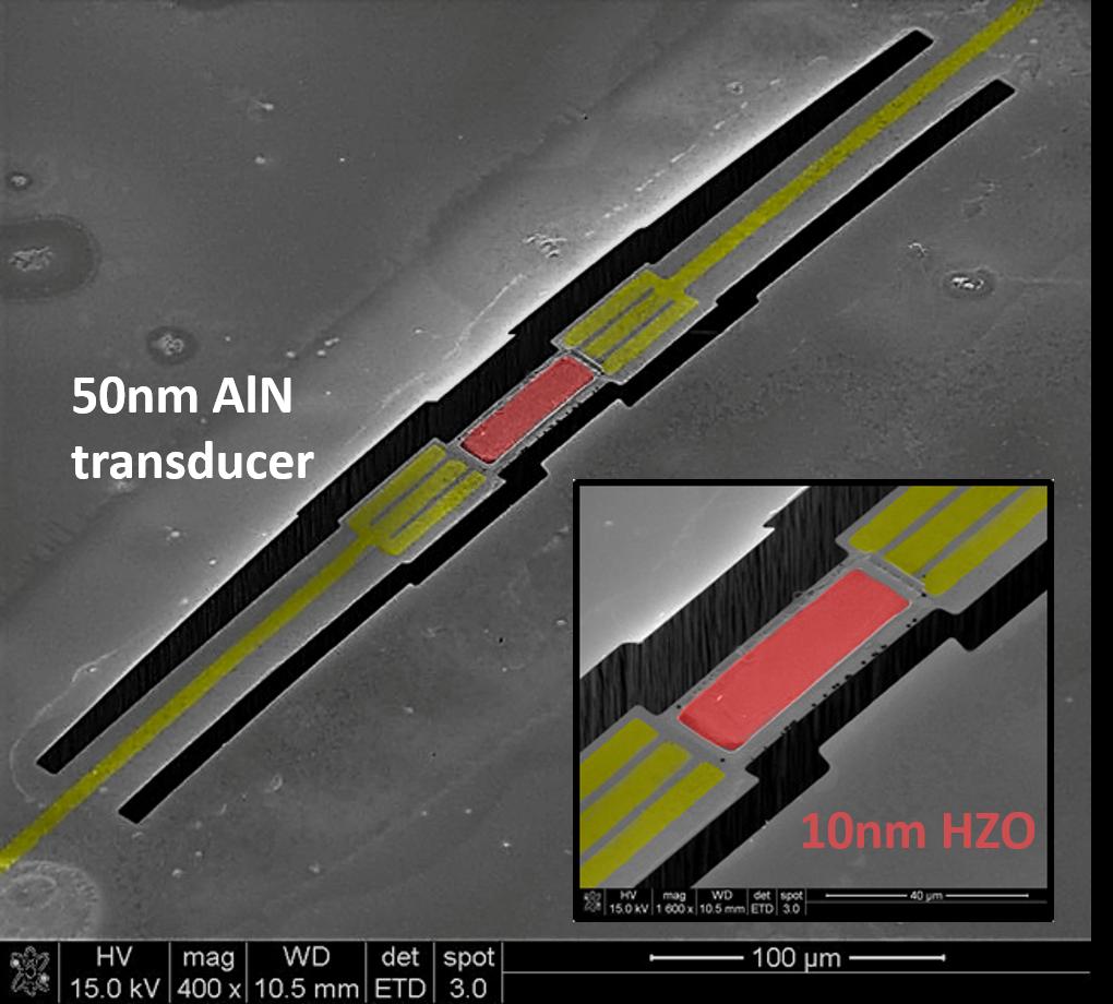Nano-Acoustic Material Spectroscopy: